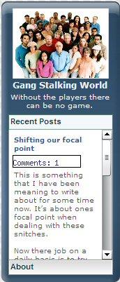 Gang Stalking World Widget